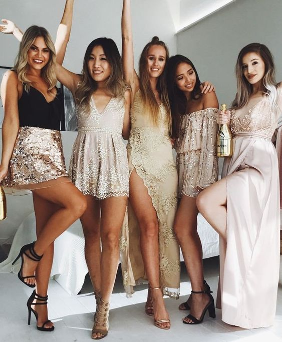 women in cocktail attire