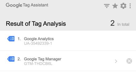 assistant de balise Google