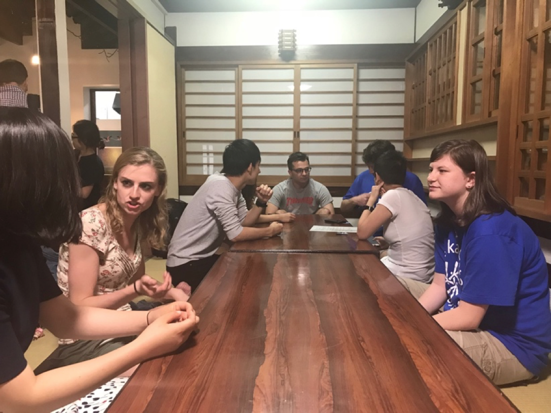 Moravian students and Japanese students get to know one another
