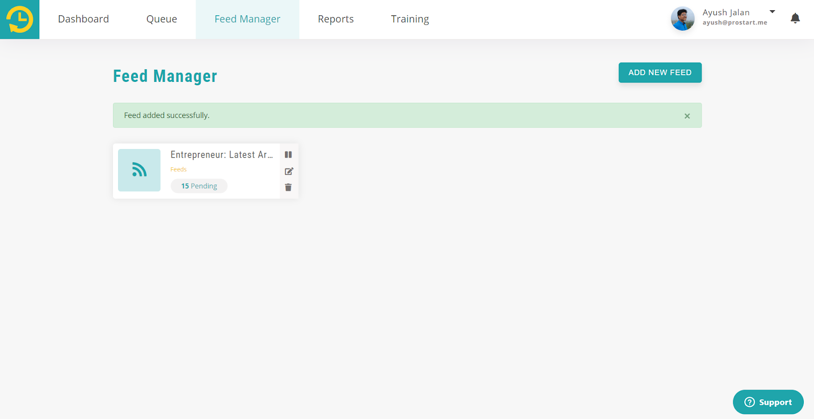 add feed - recurpost - social media scheduler