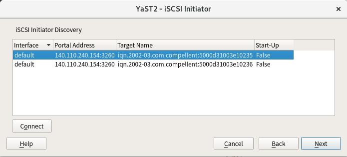 sakananote: iSCSI Initiator with openSUSE Leap 42 3
