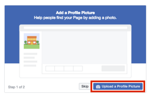 Add profile picture to your Facebook page