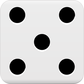 Dice, Five, Gambling, Luck, Chance, Game