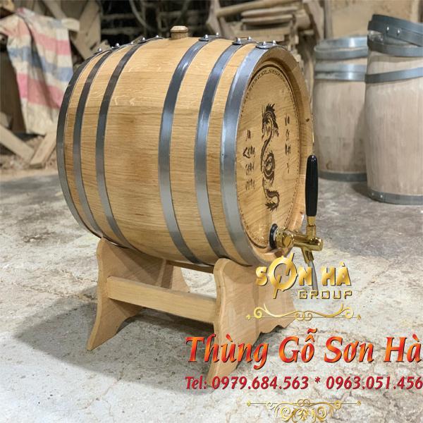 Thùng gỗ sồi ngâm rượu Nga 150L