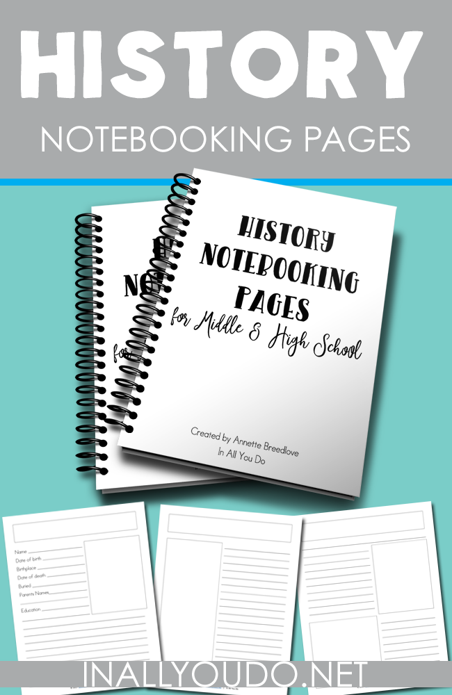 free history notebooking pages homeschool curriculum