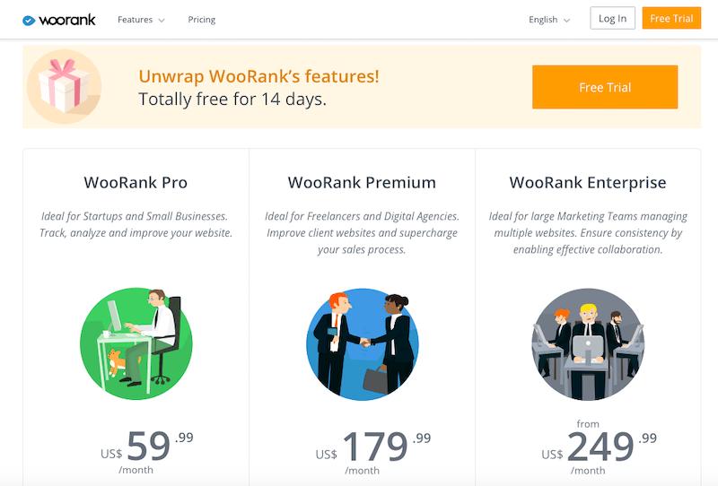 WooRank pricing