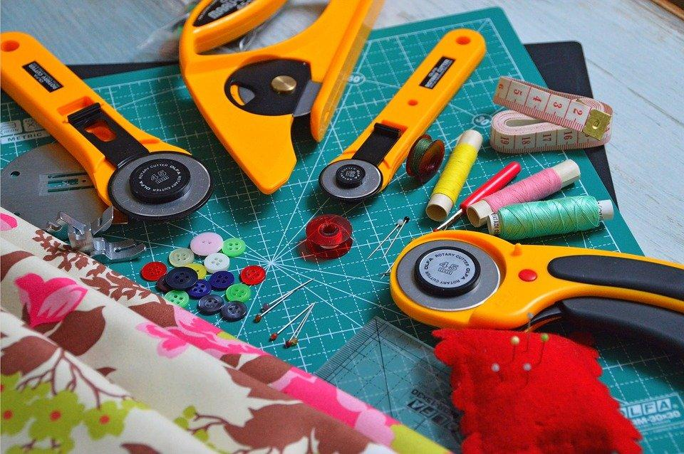 Cutting Tool, Textile, Late, Buttons, Clipboard, Sewing