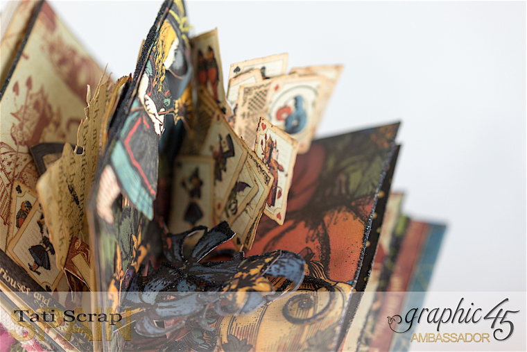 Tati, Hallowe'en in Wonderland - Deluxe Collector's Edition, Pop-Up Book, Product by Graphic 45, Photo 19