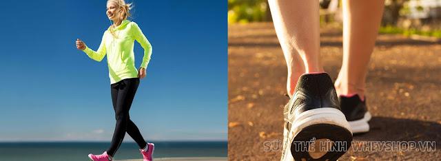Tập đi bộ nhanh giảm cân