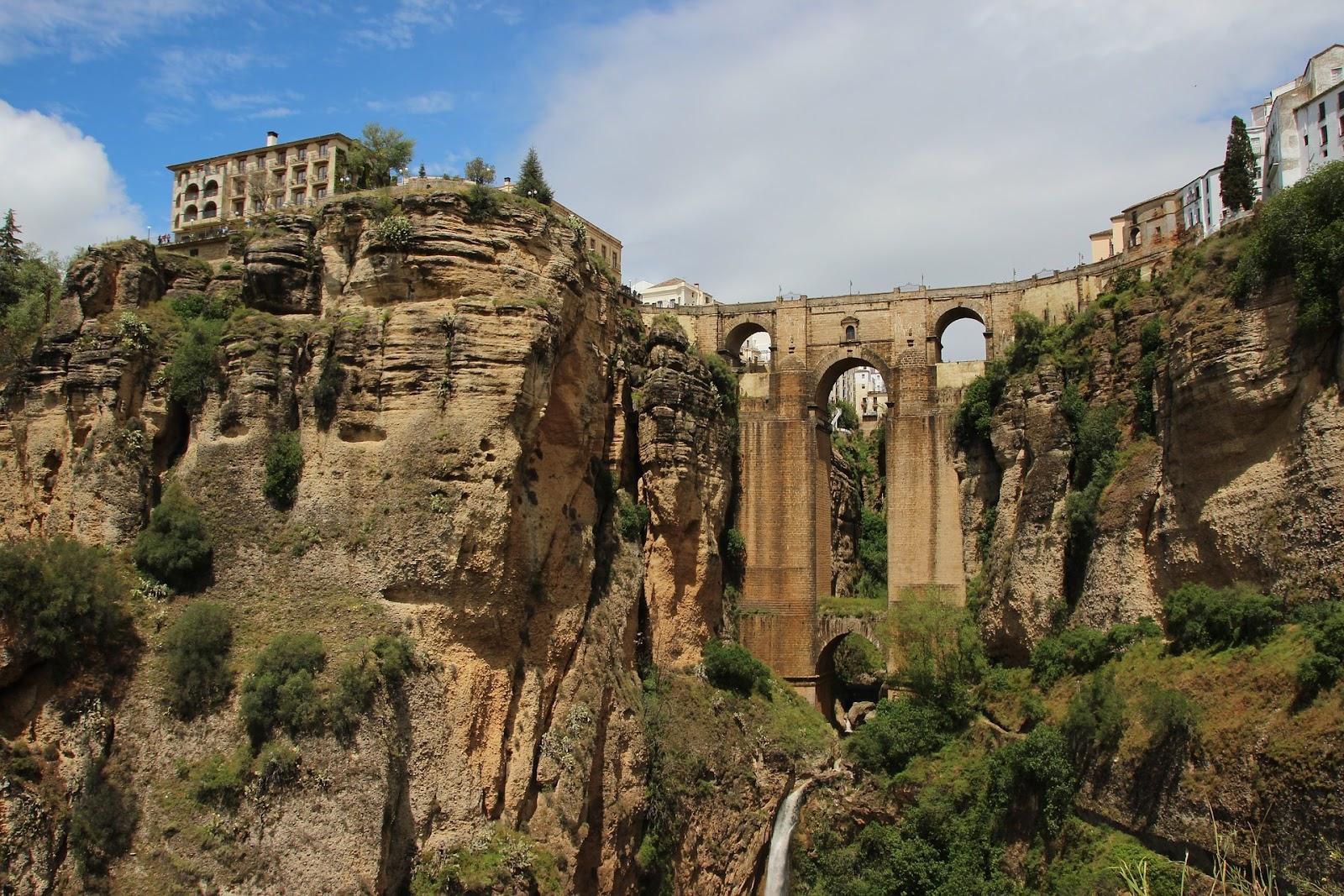 ronda spain cliff bridges and waterfall town costa del sol