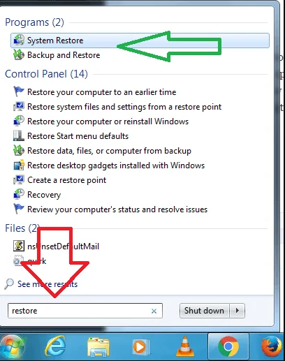 Enable System Restore in Windows 7