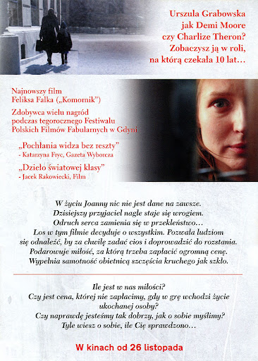 Tył ulotki filmu 'Joanna'