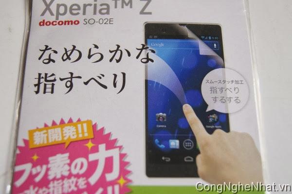Dán màn điện thoại nhật Sony Xperia Z (SO-02E)siêu sáng chống bong bóng