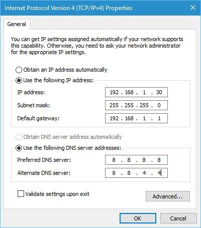 Set the IP Address of your WiFi Network Manually