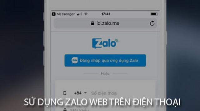 Cách sử dụng zalo web trên điện thoại
