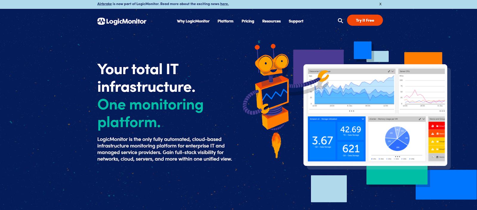 Logic Monitor Network Monitoring Tool
