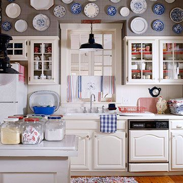 display plates for the kitchen wall
