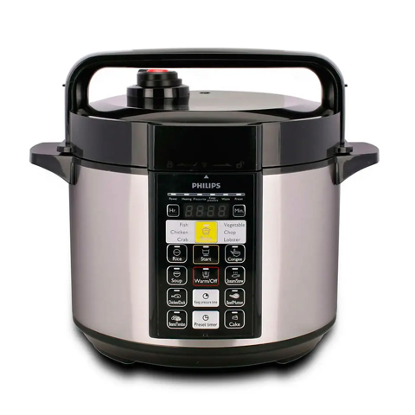 This Philips stainless steel pressure cooker is well built and durable. Source: Optimole