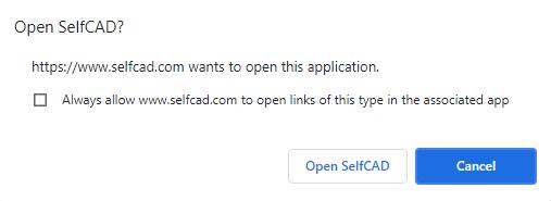 Opening SelfCAD on Desktop