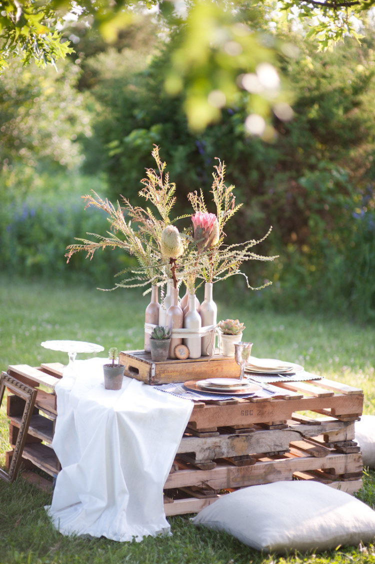 Small Wooden Table Made from Pallets: These 12 DIY Outdoor Pallet Furniture Ideas will add some flare to your outdoor space and save you money.