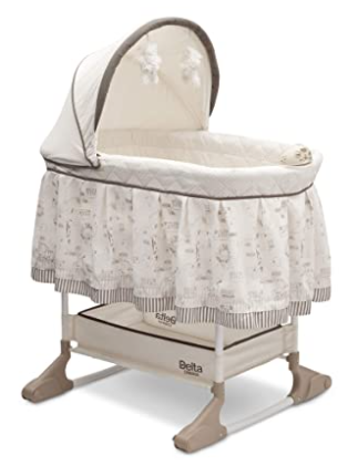 Delta Children Rocking Bedside Bassinet with Lights and Vibration