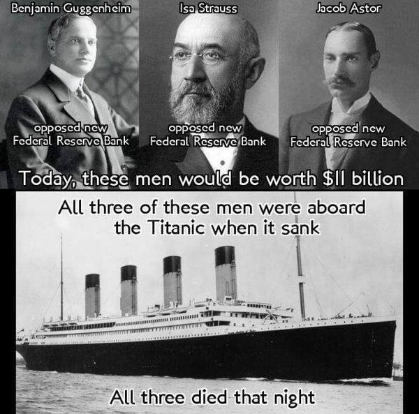 Did Jp Morgan Sink The Titanic To Remove Rivals Form The Federal