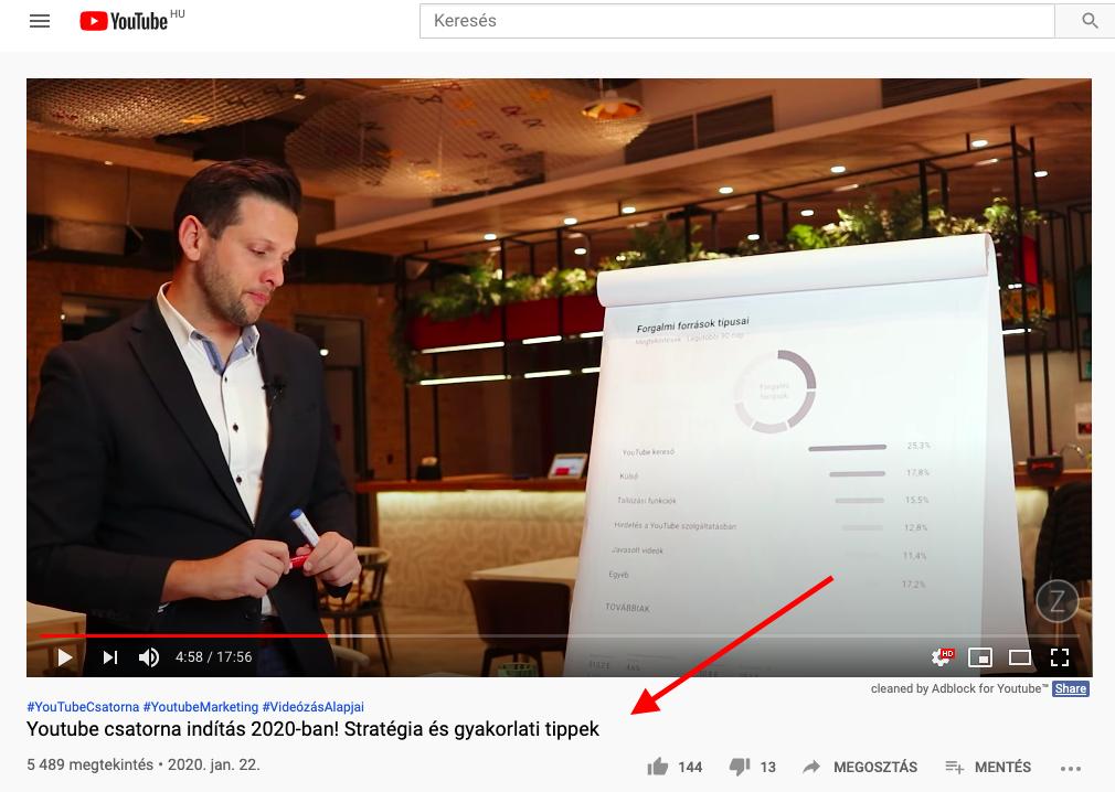 Dallos Zoltán YouTube SEO