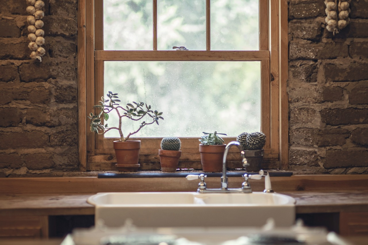 Window over the kitchen sink