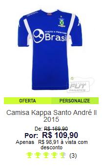 Comprar camisa do Santo André na FutFanatics