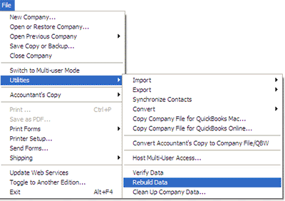 In the QuickBooks, QBB restore failed, go to the QuickBooks file menu then utilities, and restore the data