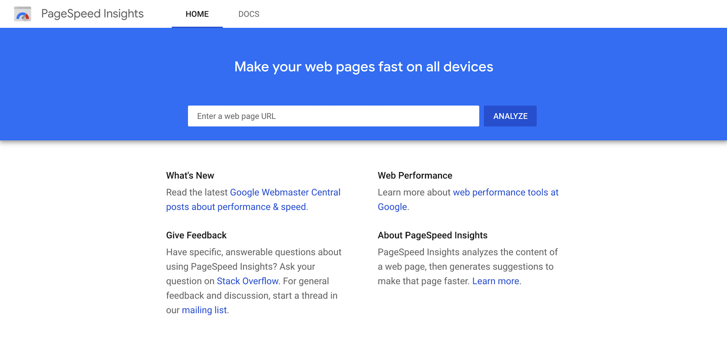 Detailed information about google page