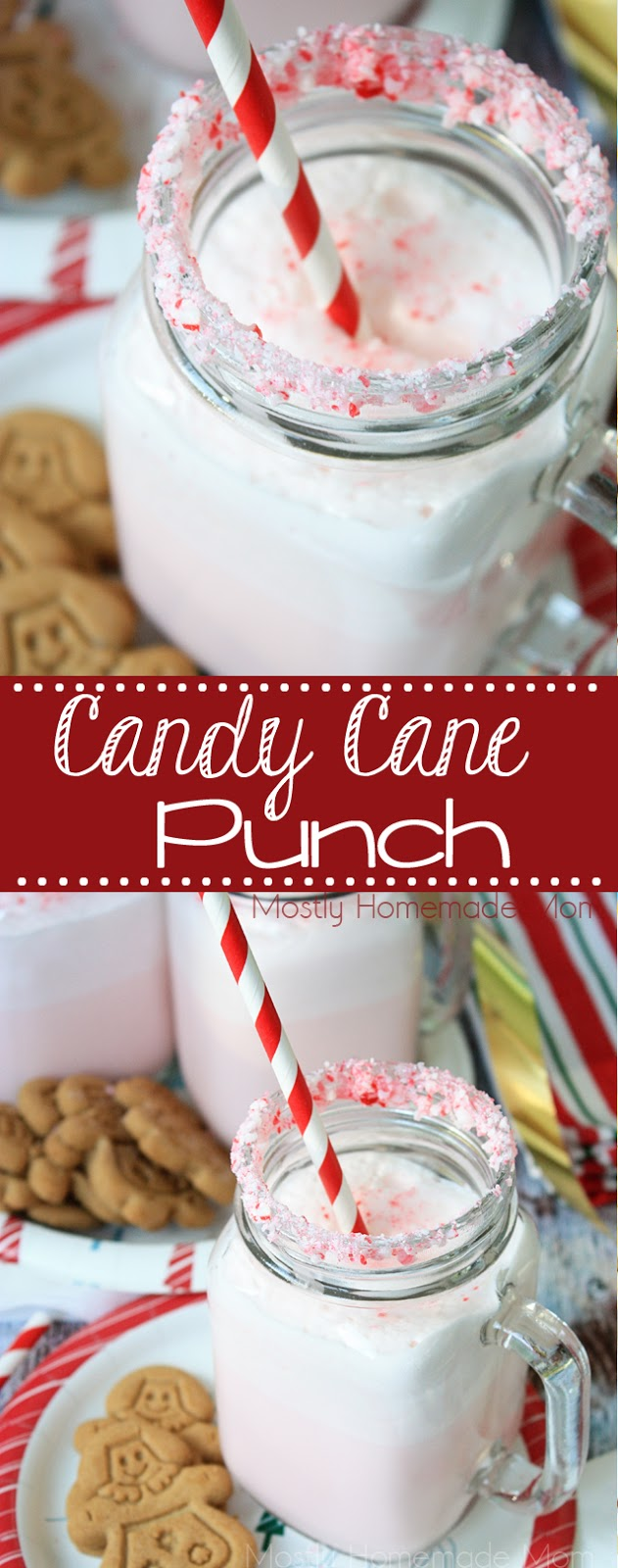 Candy Cane Ice Cream Punch Recipe