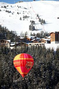 Hot Air Balloon in Courchevel