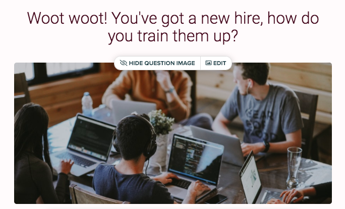 same question with image of people working