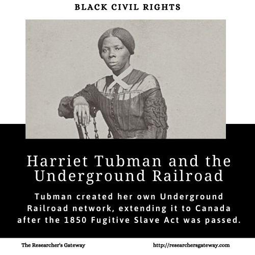 Harriet Tubman and the Underground Railroad.