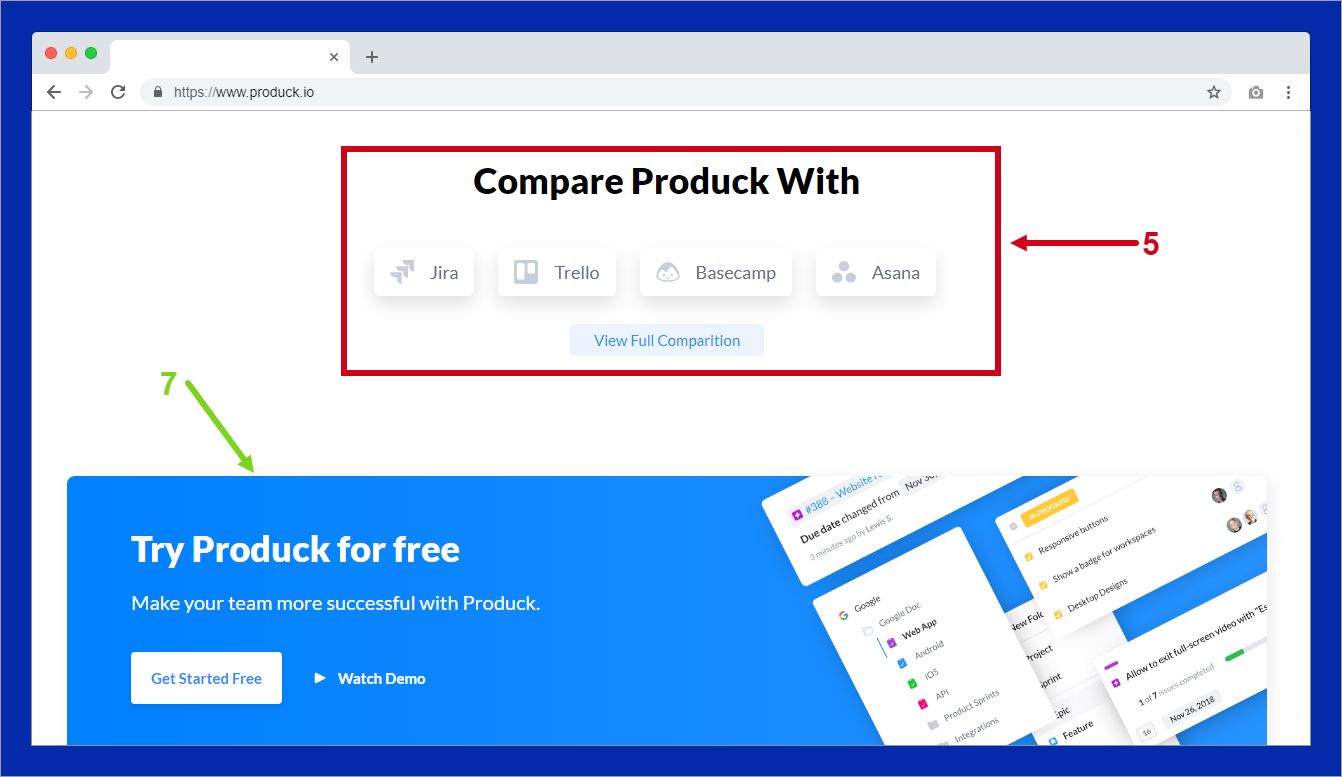 produck.io homepage copywriting
