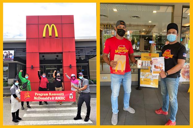 McDonald's Malaysia Bagi Makanan Percuma kepada 65,000 Rider Sempena #LekLuMcDBelanja