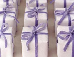 Gifts with velvet ribbon