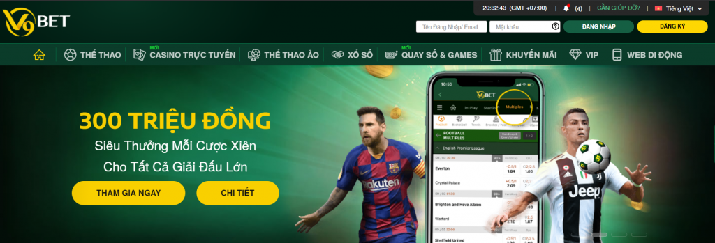 Top 3 trang cá độ bóng đá uy tín nhất Việt Nam 2020