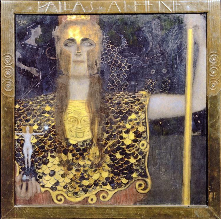 Pintura de hoja de oro sobre lienzo