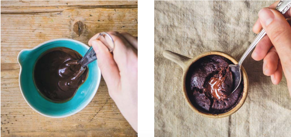 Шоколадный кекс в чашке за пять минут