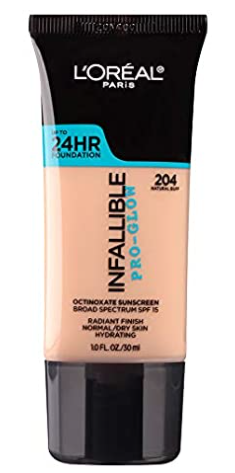 drugstore foundation loreal infallible pro-glow