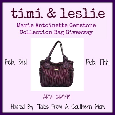 Sign up for the Timi & Leslie Bag Blogger Opp before 2/1.