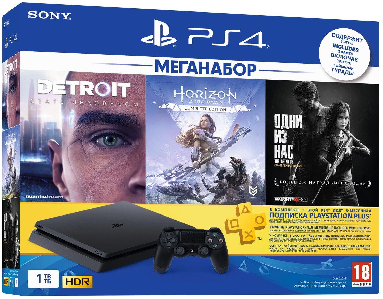 PS4 Slim 1 TB + игры в комплекте