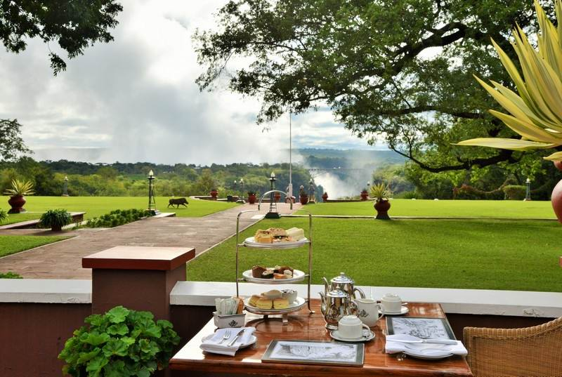 traditional High Tea at Victoria Falls Hotel