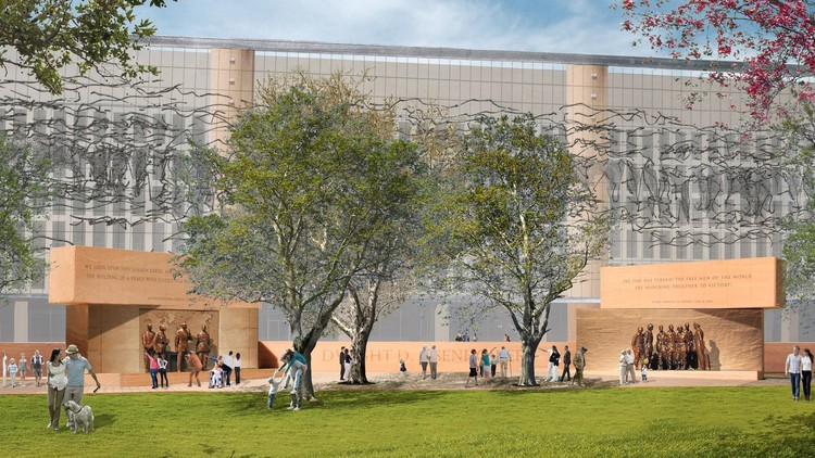 Eisenhower Memorial. Image Courtesy of Gehry Partners