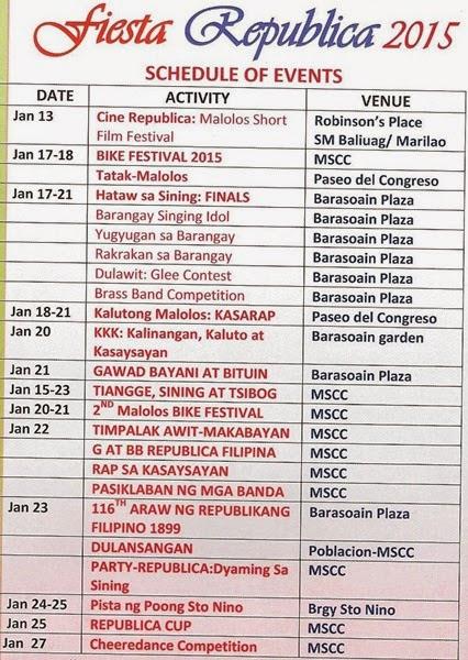 announcement, Bulacan daily, Fiesta Republica 2015, Malolos City, travel, Philippine festivals, festivals