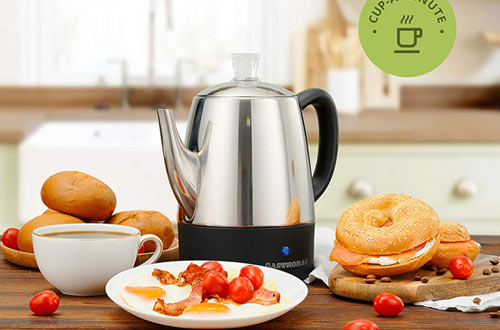Gastrorag 4-Cup Stainless Steel Electric Coffee Percolator