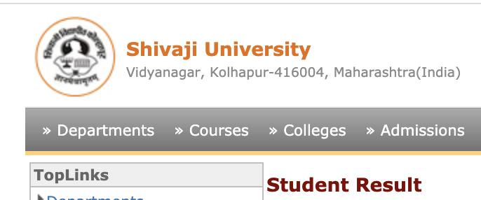Shivaji University web portal