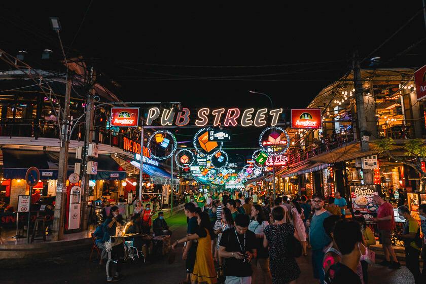 Pub Street Siem Reap attraction.